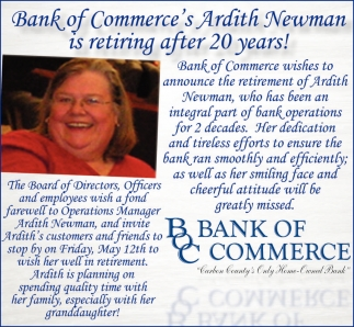 Ardith Newman is retiring after 20 years!