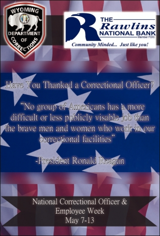 Have you thanked a correctional officer?