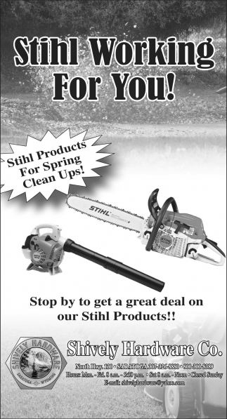 Stihl Working for You!