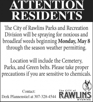 Attention Residents