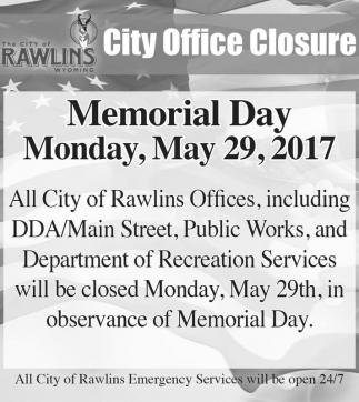City Office Closure