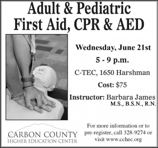 Adult and Pediatric First Aid, CPR & AED