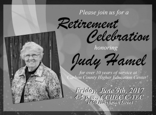 Retirement Celebration honoring Judy Hamel