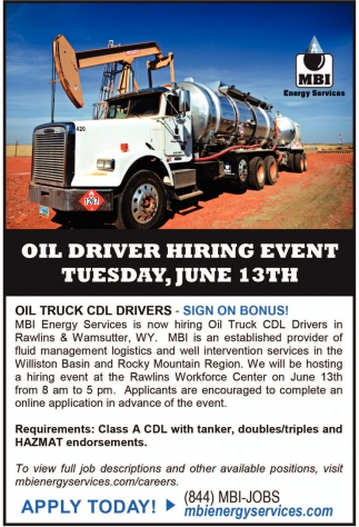 Oil Driver Hiring Event