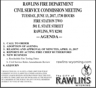 Rawlins Fire Department