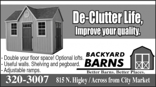 De-Clutter Life, Improve your quality