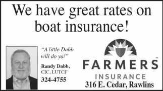 We have great rates on boat insurance!