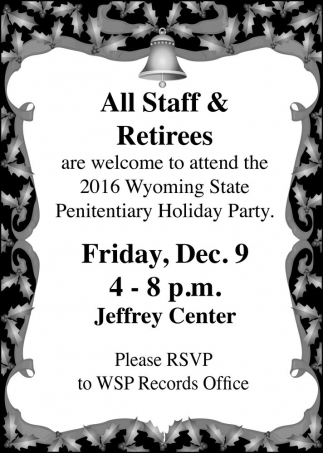All Staff and Retirees
