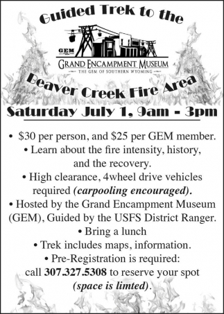 Guided Trek to the Beaver Creek Fire Area