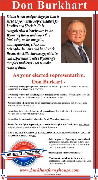 Re-Elect Don Burkhart