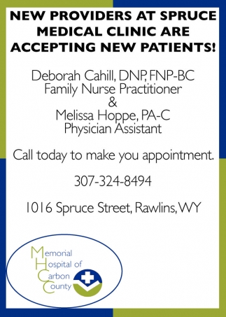 New Providers at Spruce Medical Clinic are Accepting New Patients!