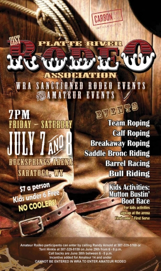 21st Platte River Rodeo Association