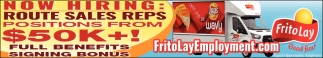 Hiring Route Sales Reps Frito Lay Employment