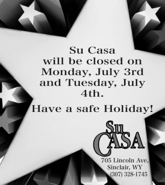 Will be closed on Monday