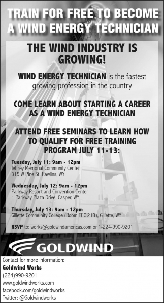 Train for free to become a wind energy technician