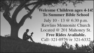 Welcome Children ages 4-14