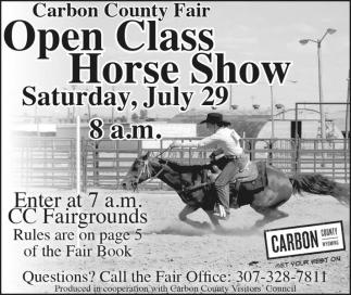 Open Class Horse Show