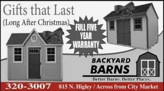 Ads For Backyard Barns In Rawlins, WY