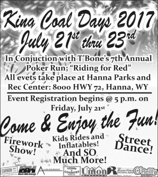 King Coal Days 2017