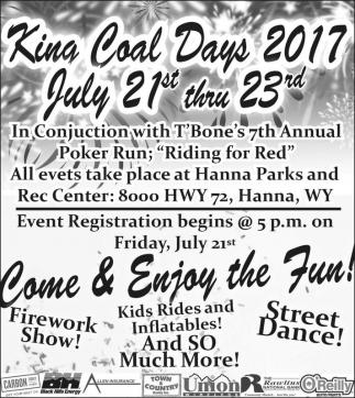 King Coal Days 2017