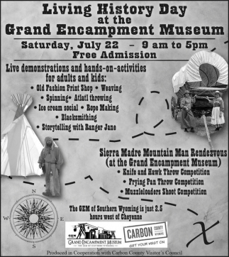 Living History Day at the Grand Encampment Museum