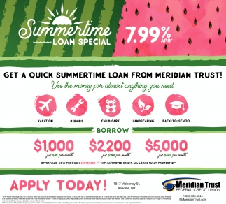 Summertime Loan Special