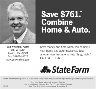 Save $761. Combine Home and Auto