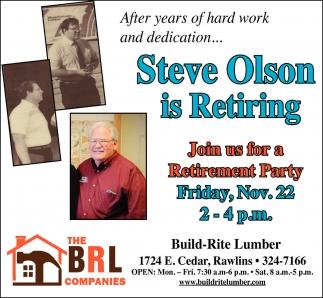 Steve Olson is Retiring