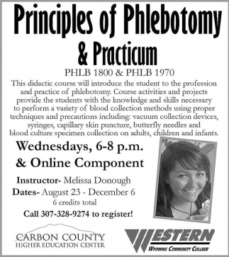 Principles Of Phlebotomy And Practicum