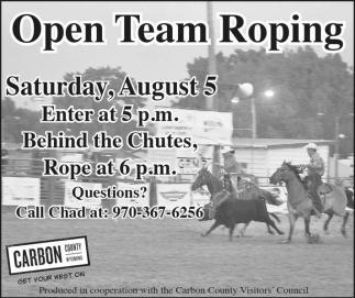 Open Team Roping