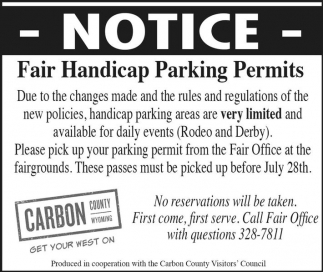 Fair Handicap Parking Permits