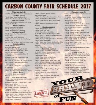 Fair Schedule 2017