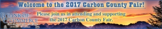 Welcome to the 2017 Carbon County Fair