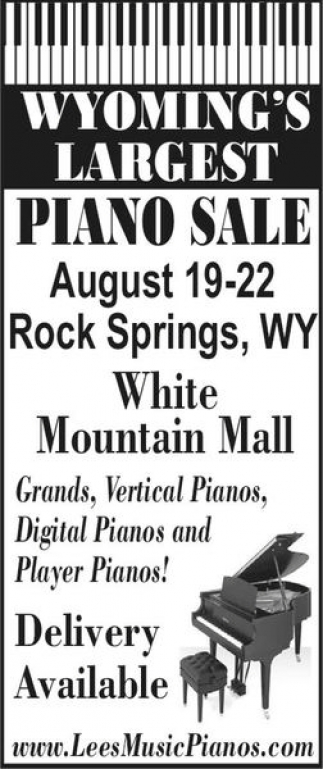 Wyoming's Largest Piano Sale
