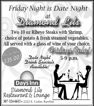 Friday Night is Date Night at Diamond Lils