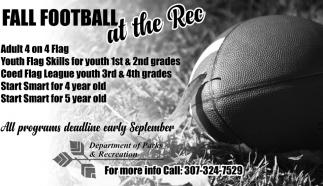 Fall Football at the Rec