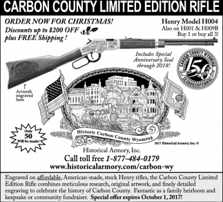 Carbon County Limited Edition Rifle