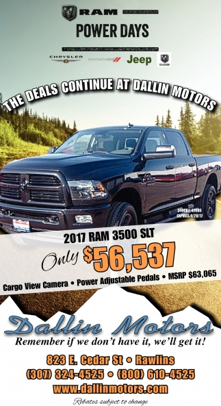 The Deals Continue at Dallins Motors