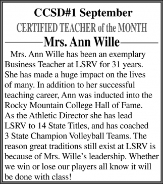 Mrs. Ann Wille