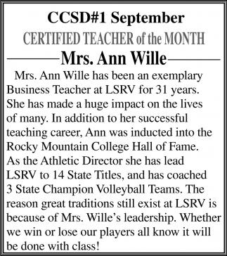Mrs. Ann Wille