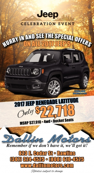 Hurry in and see the special offers!