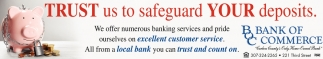 Trust us to safeguard Your Deposits