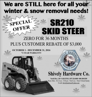We are still here for all your winter and snow removal needs!