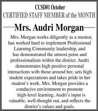 Mrs. Audri Morgan