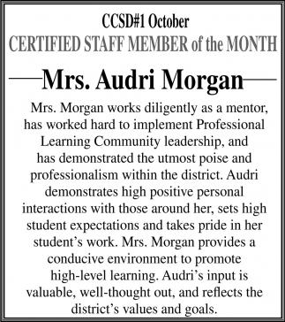 Mrs. Audri Morgan