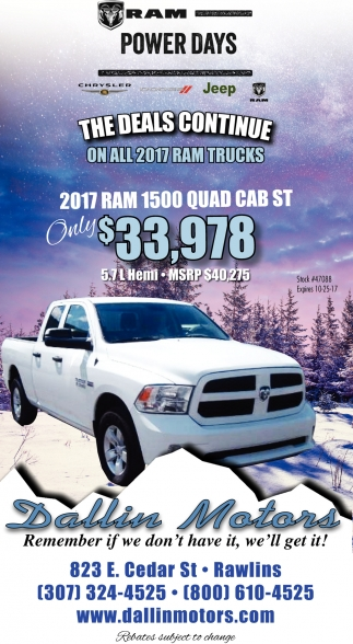 The Deals Continue On All 2017 Ram Trucks