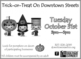 Trick - Or -Treat On Downtown Streets