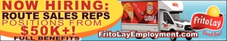 Now Hiring Route Sales Reps Frito Lay Employment