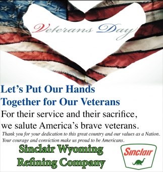 Let's Put Our Hands Together For Our Veterans
