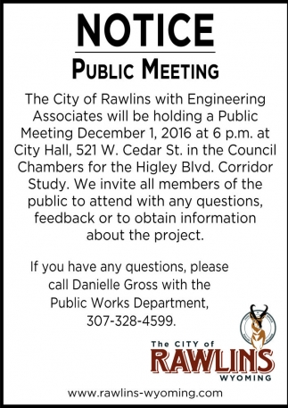 Notice Public Meeting